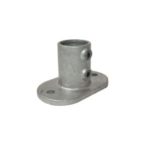 A12-6-132-B - Ovale Voetplaat (type A12) Ø 33,7 mm